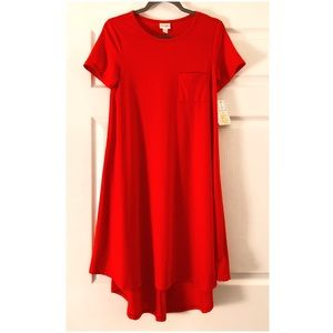 NWT Lularoe Red Carly Dress